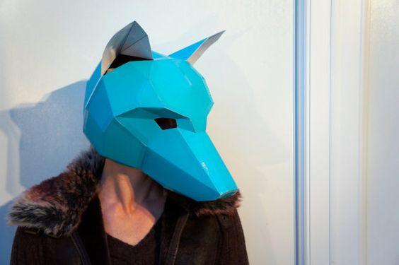 Elephant Mask, DIY printable Animal Head, Instant Pdf ...  Wintercroft Fox Mask
