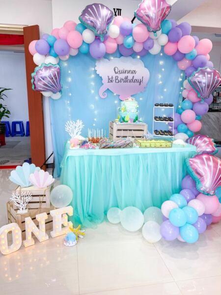 Mermaid Birthday Party Mermaid Theme Birthday Party Ariel Birthday Party Mermaid Party Decorations