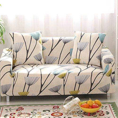 Lamberia Printed Sofa Cover Stretch Couch Cover Sofa Slipcovers For Couches And Loveseats Wit In 2020 Sofa Covers Couch Covers Printed Sofa
