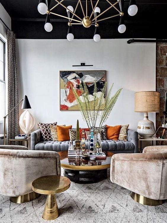 Beautiful Art Deco Living Room Decor Eclectic Living Room Eclectic Interior Room Interior