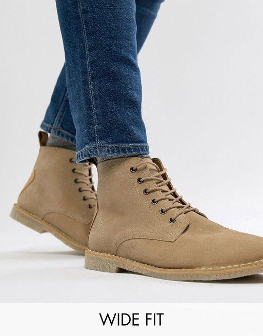 ASOS DESIGN Wide Fit desert boots