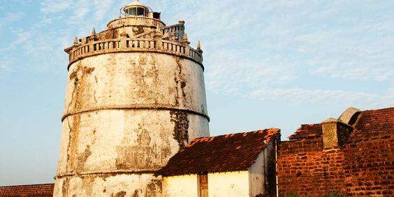 The lighthouse at Fort Aguada, Goa, India