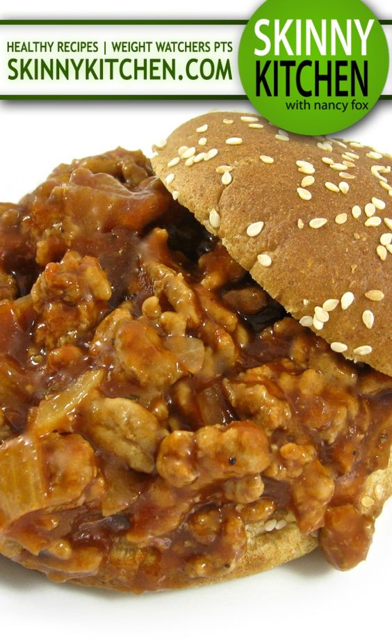Skinny Barbecue Sloppy Joes, a New Twist on an Old Favorite! Each ...