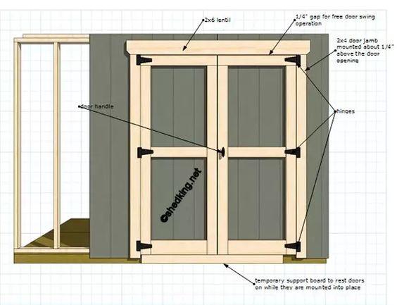 Double Shed Doors Shed Door Hardware Shed Doors Diy Storage Shed Plans