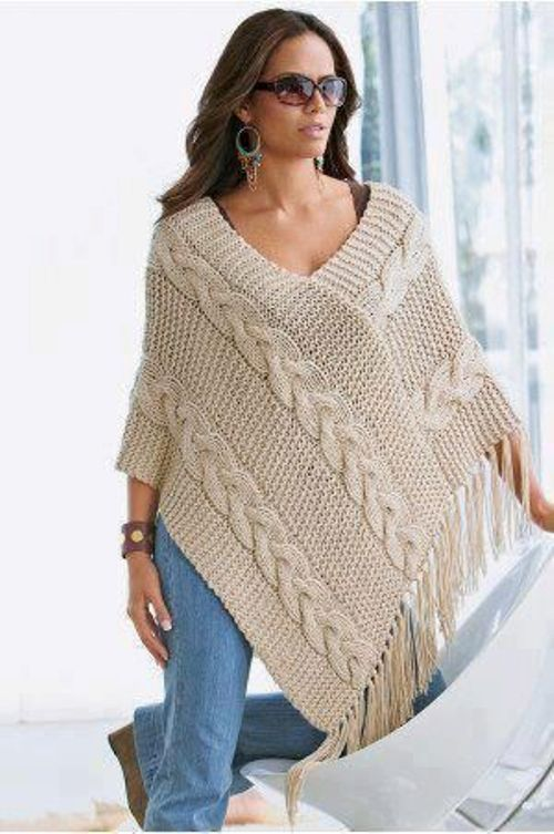 blanket mexican knit poncho