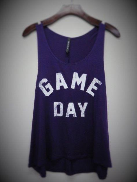 Game Day Tank Purple