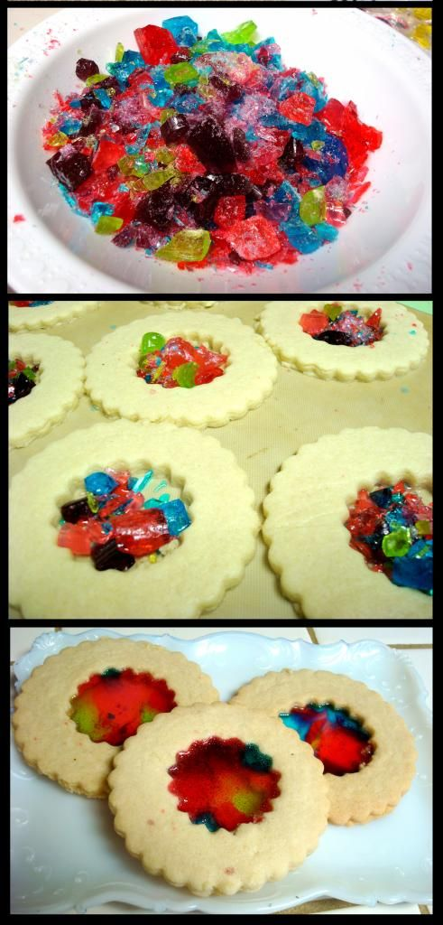 Stained Glass Cookies using Jolly Ranchers: