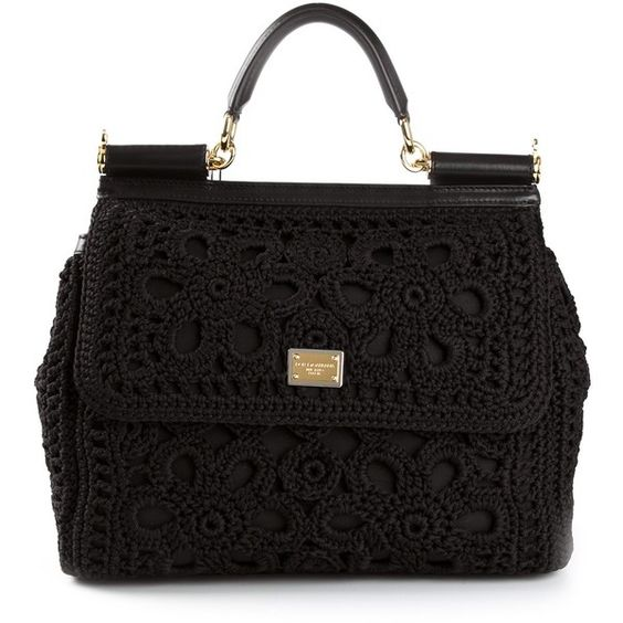 DOLCE & GABBANA 'Miss Sicily' large lace tote (7.990 BRL) ❤ liked on Polyvore