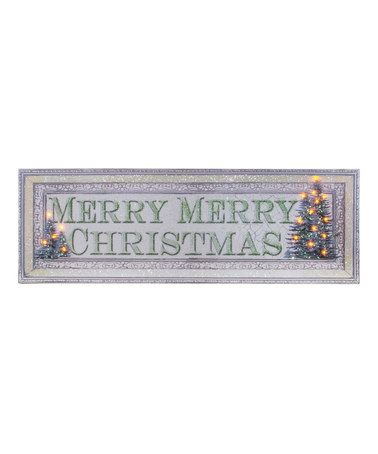 Another great find on #zulily! Large 'Merry Merry Christmas' Lighted Canvas #zulilyfinds