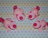 piglets: Hair Stuff Crafts Bows, Hair Ribbons, Bows Pig, Hair Bows, Hairbow Ideas, Craft Ideas, Ribbon Sculpture, Pig Hair