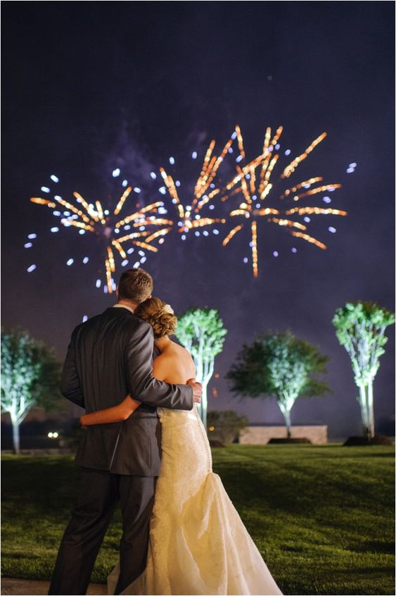 If only every wedding reception could end with fireworks!