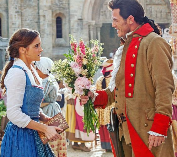 Belle and Gaston, from Disney's upcoming Beauty and the Beast (2017):