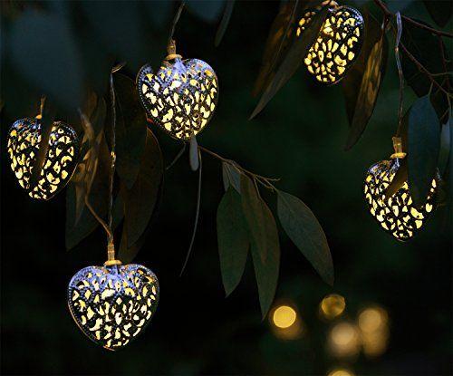 Guirlande lumineuse solaire lampes led pour jardin avec for Guirlande jardin led