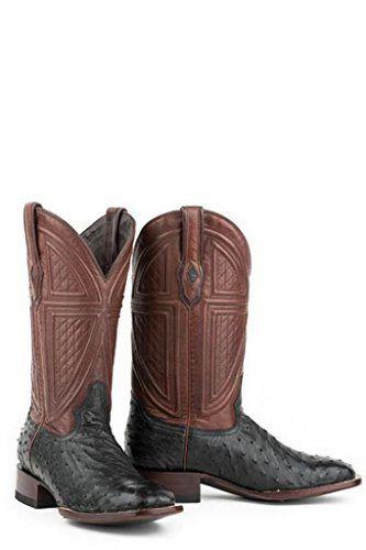 Stetson Dillon Mens Black Ostrich Quill Corded Cowboy Boots 11.5 D - http://authenticboots.com/stetson-dillon-mens-black-ostrich-quill-corded-cowboy-boots-11-5-d/