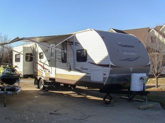 2012 Coachmen Catalina 33RES used double slide travel