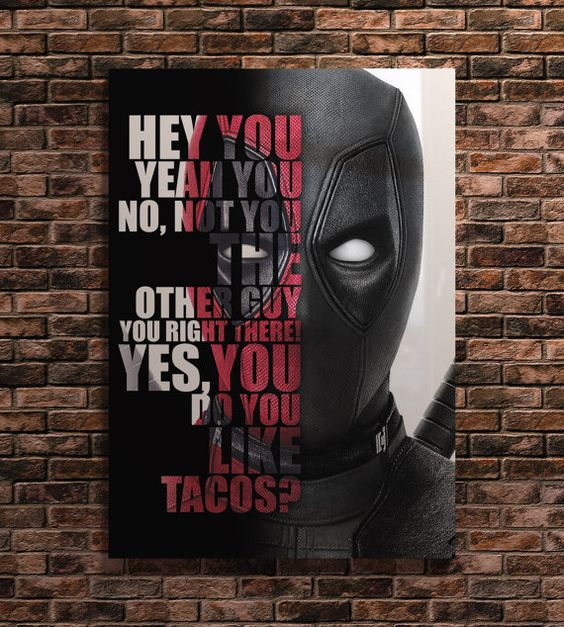 Deadpool, Famous movie quotes and Quote art on Pinterest