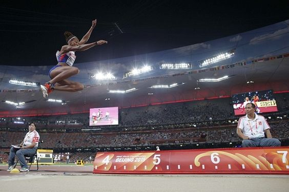 Britain's Shara Proctor the first British long jumper to leap over seven metres