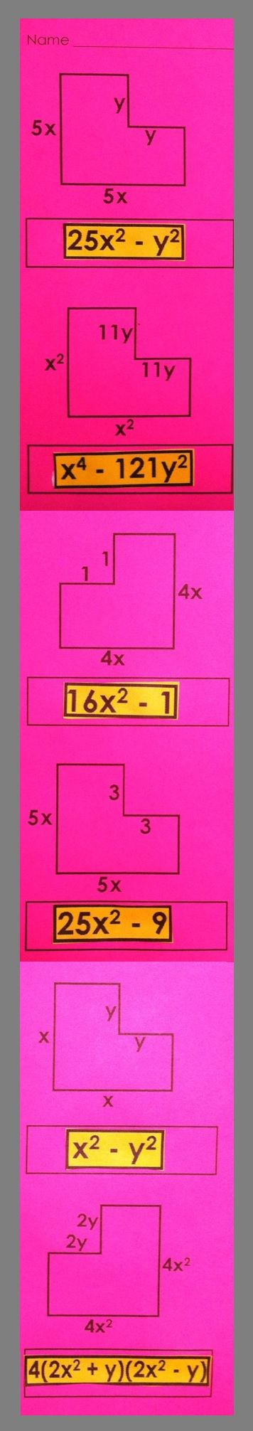 Use this idea to have kids find the perimeter of irregular figures and practice combining like terms