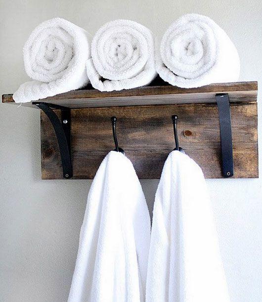 10 accessoires rustiques pour la salle de bain rustic for Salle de bain towels