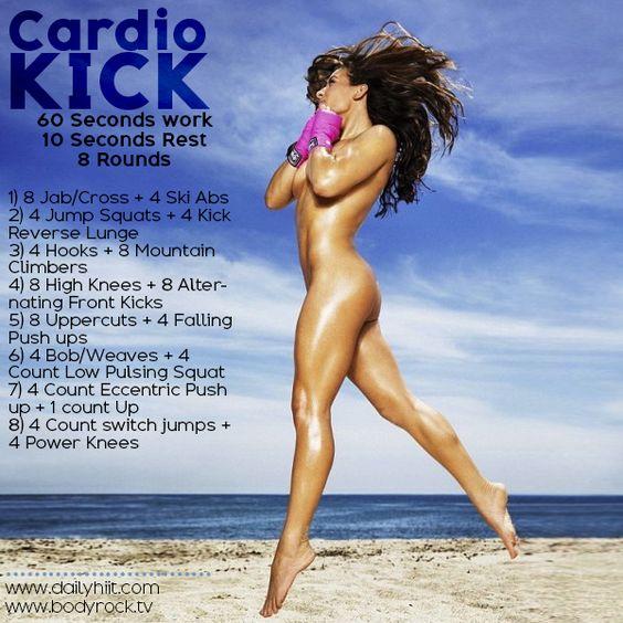 Want to get Bikini Ready? Hiit this Cardio Kick Burnout!