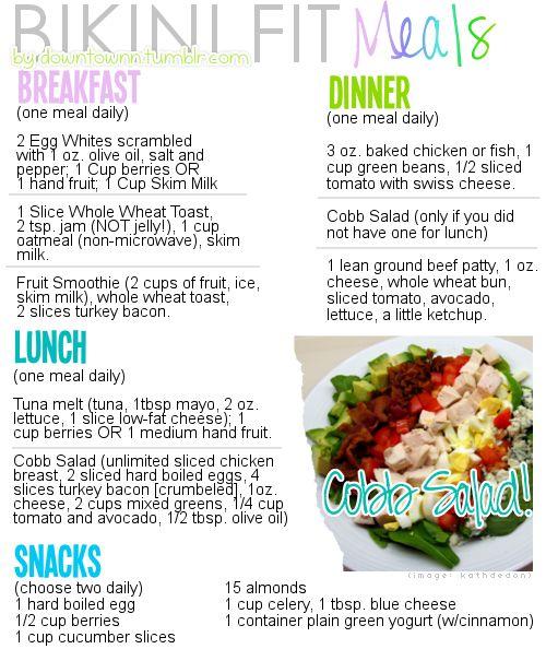 Bikini Body Diet Plan