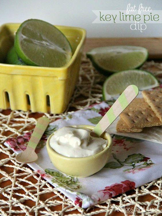 Fat Free Key Lime Pie Dip.  Sooo good!