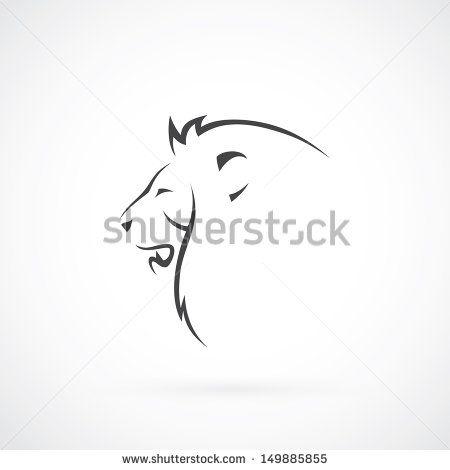 Cabeza de león - ilustración vectorial