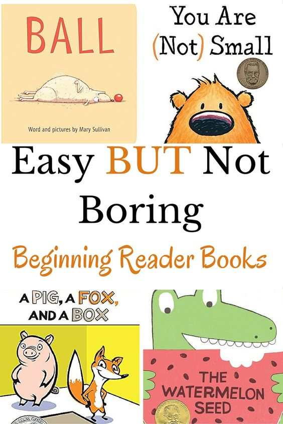 Check out these easy BUT not boring books perfect for beginning readers. Each book is leveled so you know which books are the easiest and which are a bit harder.: