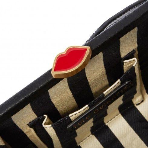 Black Polished Leather Flora Backpack