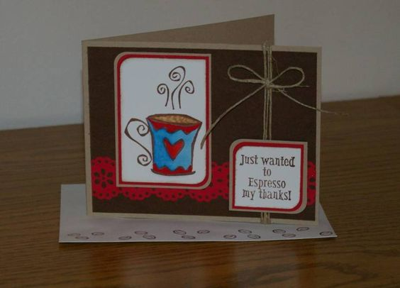 F4A49 Warm Fuzzy Coffee thanks by shelia - Cards and Paper Crafts at Splitcoaststampers