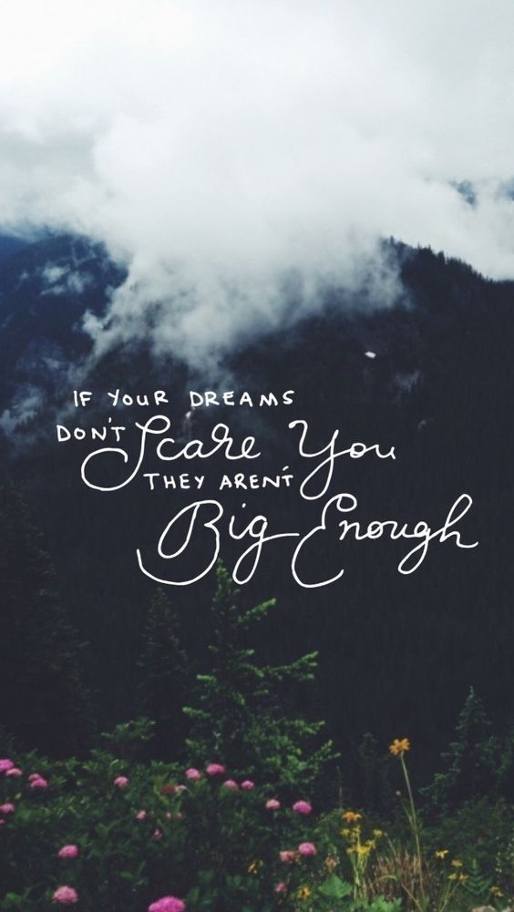 If your dreams are not scaring you they are not big enough