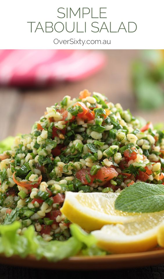 Simple Tabouli Salad Recipe - using tasty, fresh ingredients, this tabouli goes perfectly with any grilled meats.