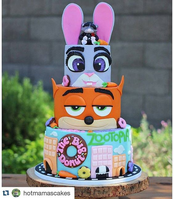 Por @hotmamascakes #zootopia #cake #mrbig #zootopiacake #elkgrove #elkgrovebakery:
