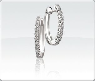 1/4ct T.W. Diamond Hoop Earrings