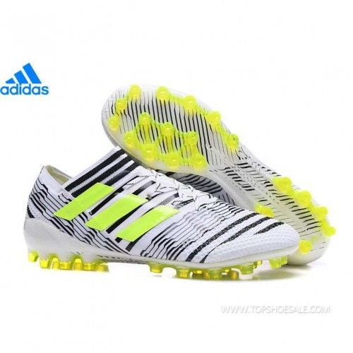 cbcfcc823331 adidas Nemeziz Messi 17.1 AG S82290 MENS White Solar Yellow Core Black SALE  FOOTBALLSHOES