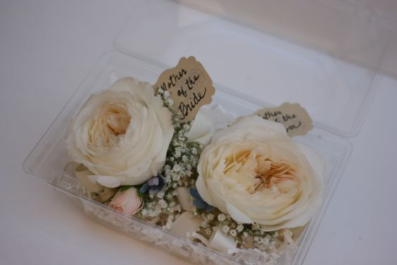 Garden rose wristlets, Fleurie