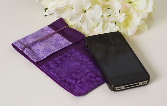 Quilted Cell Phone Case for iPhone5 or Atrix Ombre by StitchinCute, $10.00