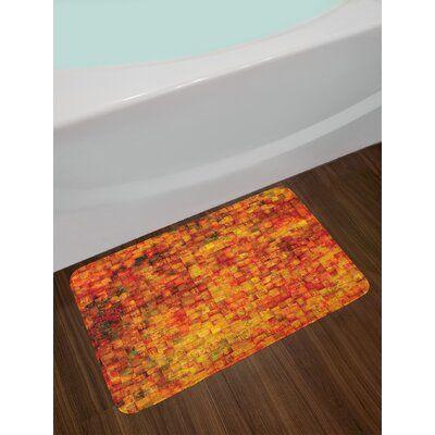 East Urban Home Vintage Burnt Orange Bath Rug Bath Mat Sets