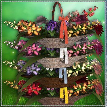 Flower Baskets - Commercial Digital Scrapbooking Elements - http://www.scrapandtubes.com/store/index.php?main_page=product_info&cPath=289_656&products_id=16254