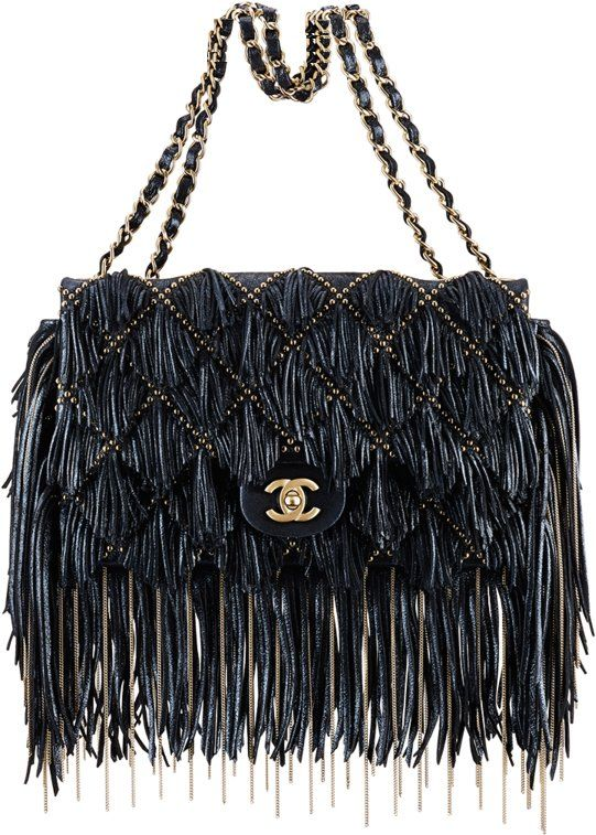Blue Suede Fringe Bag by Chanel Bag
