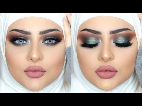 Olive Green Smokey Eyes Marwa Yehia مكياج سموكى اخضر زيتى مع مروة يحيي Youtube Eye Make Up Middle Eastern Makeup Make Up