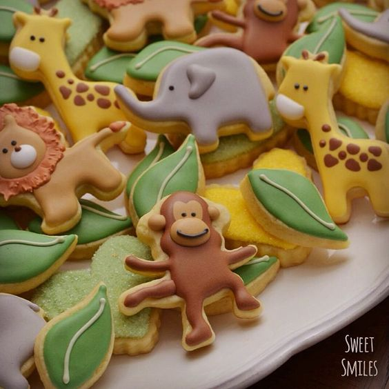 Adorable Jungle Animal cookies: