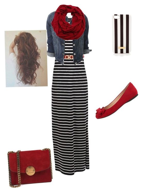 Untitled #159 by abbyrice2000 on Polyvore featuring VILA, Jessica Simpson, Henri Bendel and Salvatore Ferragamo