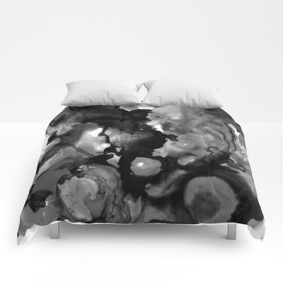 Buy Ethereal in Ink Black Comforters by laurabethlove. Worldwide shipping available at Society6.com. Just one of millions of high quality products available.