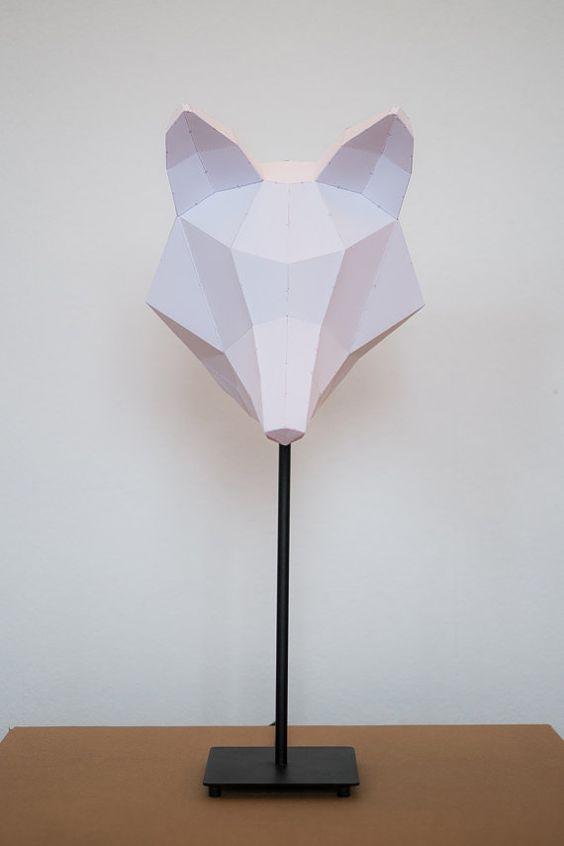 Fox medium do it yourself paper lamp shade lmparas de papel fox medium do it yourself paper lampshade by donkeyandfriends 3500 solutioingenieria Choice Image