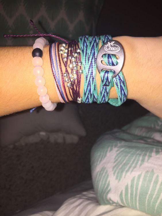 puravida bracelets, lokai, and Chaco wrap.