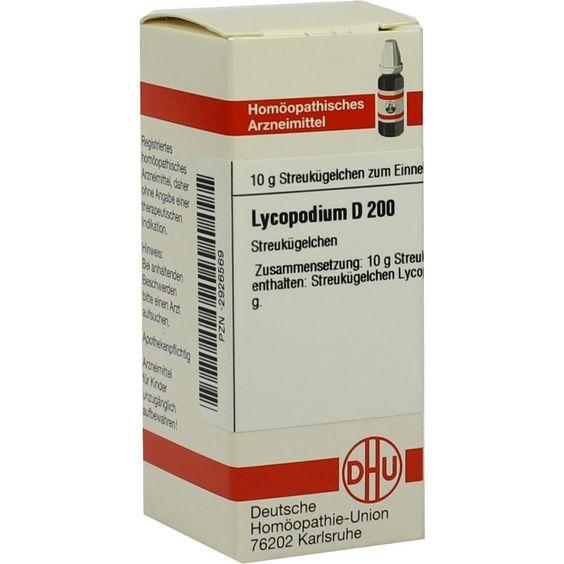 LYCOPODIUM D 200 Globuli:   Packungsinhalt: 10 g Globuli PZN: 02926569 Hersteller: DHU-Arzneimittel GmbH & Co. KG Preis: 9,10 EUR inkl.…