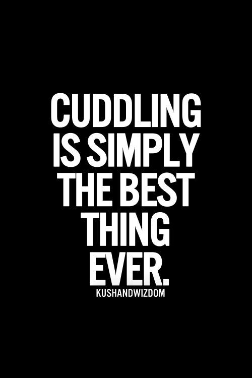My husband, Vaughan spoils me with morning cuddles and night time cuddles and cuddles in between <3