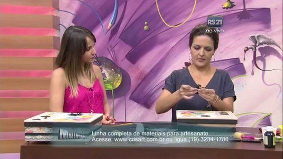 Mulher.com 13/10/2014 Marisa Magalhães - Caixa com scrapdecor Parte 2/2