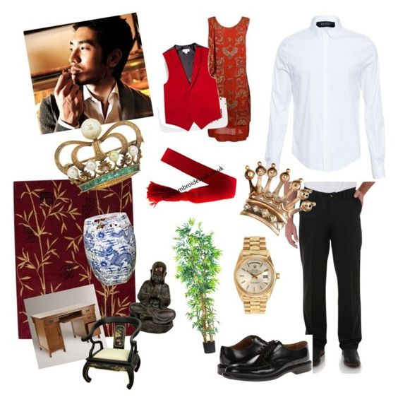 """""""Emperor Kai ~ Young, Responsible and in Love"""" by sara-renkert ❤ liked on Polyvore featuring Gucci, Nourison, Legend of Asia, Wrangler, Calvin Klein, Rolex, Cost Plus World Market, Nearly Natural and Paul Smith"""